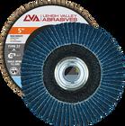 "5"" x 5/8""-11 Threaded Zirconia High Density Flap Disc Type 27 Flat | 80 Grit T27 | LVA CFFTS50J080ZX"