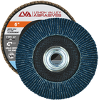"6"" x 5/8""-11 Threaded Zirconia Flap Disc Type 27 Flat 