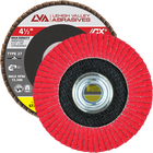 "4.5"" x 5/8""-11 Threaded Ceramic High Density Flap Disc Flat 