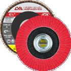 "4.5"" x 5/8""-11 Threaded Ceramic High Density Flap Disc Flat | 40 Grit T27 | LVA CFFAS45J040CP"