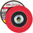 "5"" x 5/8""-11 Threaded Ceramic High Density Flap Disc Flat | 40 Grit T27 | LVA CFFAS50J040CP"