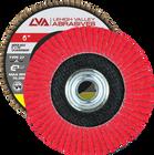 "6"" x 5/8""-11 Threaded Ceramic Flap Disc Type 27 Flat | 40 Grit T27 | LVA CFFAS60S040CP"