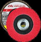 "6"" x 5/8""-11 Threaded Ceramic Flap Disc Type 27 Flat | 120 Grit T27 | LVA CFFAS60S120CP"
