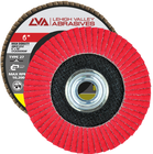 "6"" x 5/8""-11 Threaded Ceramic High Density Flap Disc Type 27 Flat | 36 Grit T27 | LVA CFFAS60J036CP"