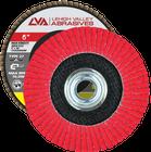 "6"" x 5/8""-11 Threaded Ceramic High Density Flap Disc Type 27 Flat | 60 Grit T27 | LVA CFFAS60J060CP"