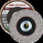 "4.5"" x 5/8""-11 Threaded Flap Disc for Aluminum Type 27 Flat | 40 Grit T27 | LVA CFFAS45S040AP"