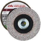 "5"" x 5/8""-11 Threaded Flap Disc for Aluminum Type 27 Flat | 60 Grit T27 | LVA CFFAS50S060AP"