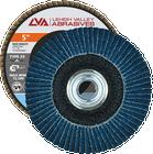 "5"" x 5/8""-11 Threaded Zirconia High Density Flap Disc Conical | 120 Grit T29 | LVA CFCTS50J120ZC"