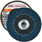 "6"" x 5/8""-11 Threaded Zirconia High Density Flap Disc Conical   120 Grit T29   LVA CFCTS60J120ZC"
