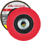 "5"" x 5/8""-11 Threaded Ceramic Flap Disc Type 29 Conical 