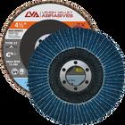 "4.5"" x 7/8"" Zirconia High Density Flap Disc Type 27 Flat | 36 Grit T27 | LVA CFFAS45J036ZX"