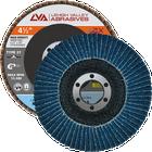 "4.5"" x 7/8"" Zirconia High Density Flap Disc Type 27 Flat | 60 Grit T27 | LVA CFFAS45J060ZX"