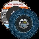 "4.5"" x 7/8"" Zirconia High Density Flap Disc Type 29 Conical | 24 Grit T29 | LVA CFCAS45J024ZX"