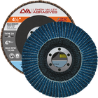 "4.5"" x 7/8"" Zirconia High Density Flap Disc Type 29 Conical | 80 Grit T29 | LVA CFCAS45J080ZX"