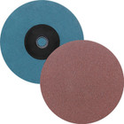 "3"" Quick Change Sanding Disc (Box Qty: 50) | Type S | 120 Grit Aluminum Oxide | LVA SD30AO-120"