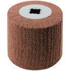 4 x 4 x 3/4 In. Quad-Keyway Non-Woven Nylon Abrasive Flap Wheel Drum / Roll | P400 Grit | Metabo 623468000