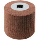 4 x 4 x 3/4 In. Quad-Keyway Non-Woven Nylon Abrasive Flap Wheel Drum / Roll | Medium Grade | Wendt 323781