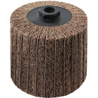 4 x 4 x 5/8-11 In. Threaded Interleaf Flap Wheel Drum / Roll | Medium / 120 Grit | Wendt 323454