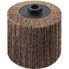 4 x 4 x 5/8-11 In. Threaded Interleaf Flap Wheel Drum / Roll | Very Fine / 240 Grit | Wendt 323457
