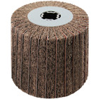 4 x 4 x 3/4 In. Quad-Keyway Interleaf Flap Wheel Drum / Roll | Medium / 120 Grit | Wendt 323483