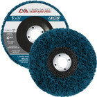 "5"" x 7/8"" Non-Woven Fiberglass Backed T27 Clean & Strip Disc (Blue / Extra Coarse)"