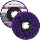 """5"""" x 7/8"""" Non-Woven Fiberglass Backed T27 Clean & Strip Disc (Purple / Ultra Coarse)"""
