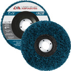 "7"" x 7/8"" Non-Woven Fiberglass Backed T27 Clean & Strip Disc (Blue / Extra Coarse)"