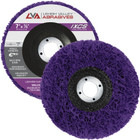 "7"" x 7/8"" Non-Woven Fiberglass Backed T27 Clean & Strip Disc (Purple / Ultra Coarse)"
