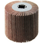 4 x 4 x 3/4 In. Quad-Keyway Abrasive Flap Wheel Drum / Roll | 40 Grit Aluminum Oxide | Wendt 323162