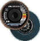 "5"" x 5/8""-11 Zirconia Threaded Trimmable Flap Disc Type 27 Flat | 80 Grit T27 | LVA CFFAT50S080ZC"