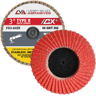 "3""  Quick Change Flap Discs | Type R | 36 Grit Ceramic | LVA FD3-36CR"