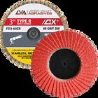"3""  Quick Change Flap Discs | Type R | 80 Grit Ceramic | LVA FD3-80CR"