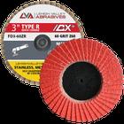 "3""  Quick Change Flap Discs | Type R | 120 Grit Ceramic | LVA FD3-120CR"