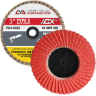 "3""  Quick Change Flap Discs | Type S | 80 Grit Ceramic | LVA FD3-80CS"