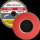 "3""  Quick Change Flap Discs | Type S | 120 Grit Ceramic | LVA FD3-120CS"