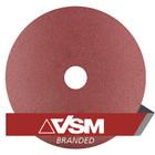 "4.5"" x 7/8"" Resin Fiber Discs (Pack Qty: 50) | 100 Grit AO | VSM KF708 85858"