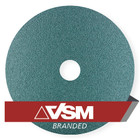 "4.5"" x 7/8"" Resin Fiber Discs (Pack Qty: 50) | 50 Grit Zirconia | VSM ZF713 91178"