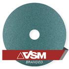 "7"" x 7/8"" Resin Fiber Discs (Pack Qty: 50) | 60 Grit Zirconia | VSM ZF713 91605"