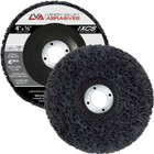 "4"" x 5/8"" Non-Woven Fiberglass Backed T27 Clean & Strip Disc (Black / Coarse)"