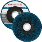 "4"" x 5/8"" Non-Woven Fiberglass Backed T27 Clean & Strip Disc (Blue / Extra Coarse)"