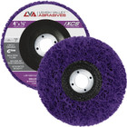 "4"" x 5/8"" Non-Woven Fiberglass Backed T27 Clean & Strip Disc (Purple / Ultra Coarse)"