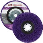 """4"""" x 3/8-24"""" Non-Woven Fiberglass Backed T27 Clean & Strip Disc (Purple / Ultra Coarse)"""