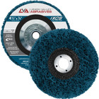 "4-1/2"" x 5/8-11"" Non-Woven Fiberglass Backed T27 Clean & Strip Disc (Blue / Extra Coarse)"