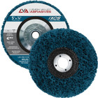 "5"" x 5/8-11"" Non-Woven Fiberglass Backed T27 Clean & Strip Disc (Blue / Extra Coarse)"