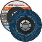 "4.5"" x 7/8"" Zirconia High Density Flap Disc Type 27 Flat 