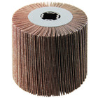 4 x 4 x 3/4 In. Quad-Keyway Abrasive Flap Wheel Drum / Roll | 40 Grit Aluminum Oxide | Metabo 623477000