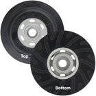 "7"" Rubber Backing Pad w/ Nut for Resin Fiber Discs 
