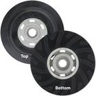 "5"" Medium Rubber Backing Pad w/ Nut for Resin Fiber Discs | LVA RFBP92603-R"