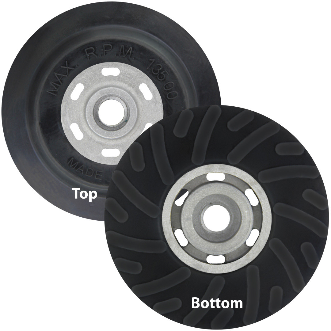 "4.5/"" x 5//8/""-11 Resin Fiber Disc Backing Pad with Lock Nut for Angle Grinder http"