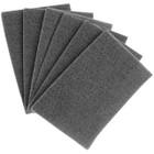"6"" x 9"" Hand Pad Non-Woven Ultra Fine S/C (Grey) | LVA HP-GREY"